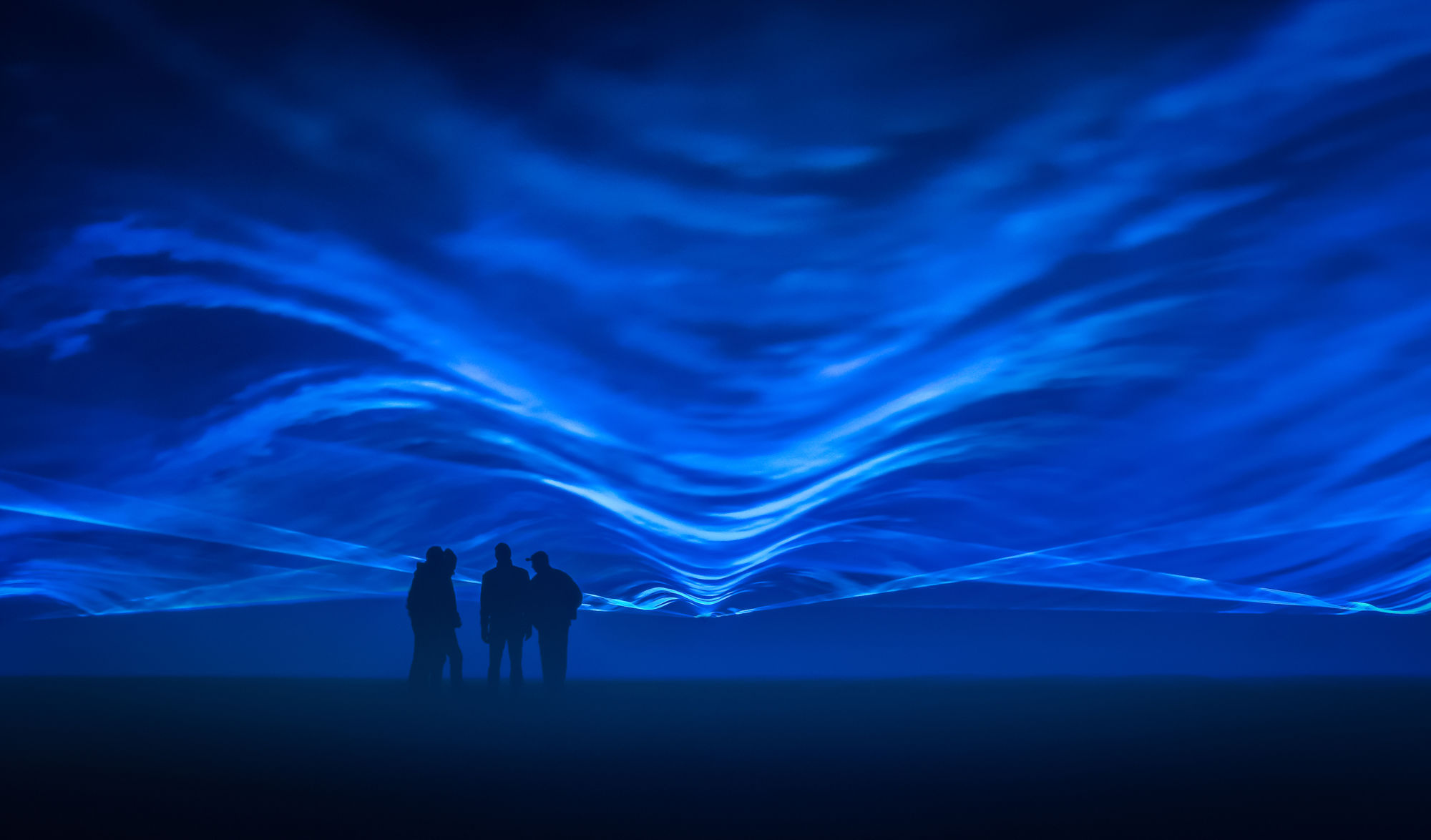 Dutch artist Daan Roosegaarde, whose works have included   Waterlicht  , an aetherial series of aquatic projections depicting rising tides