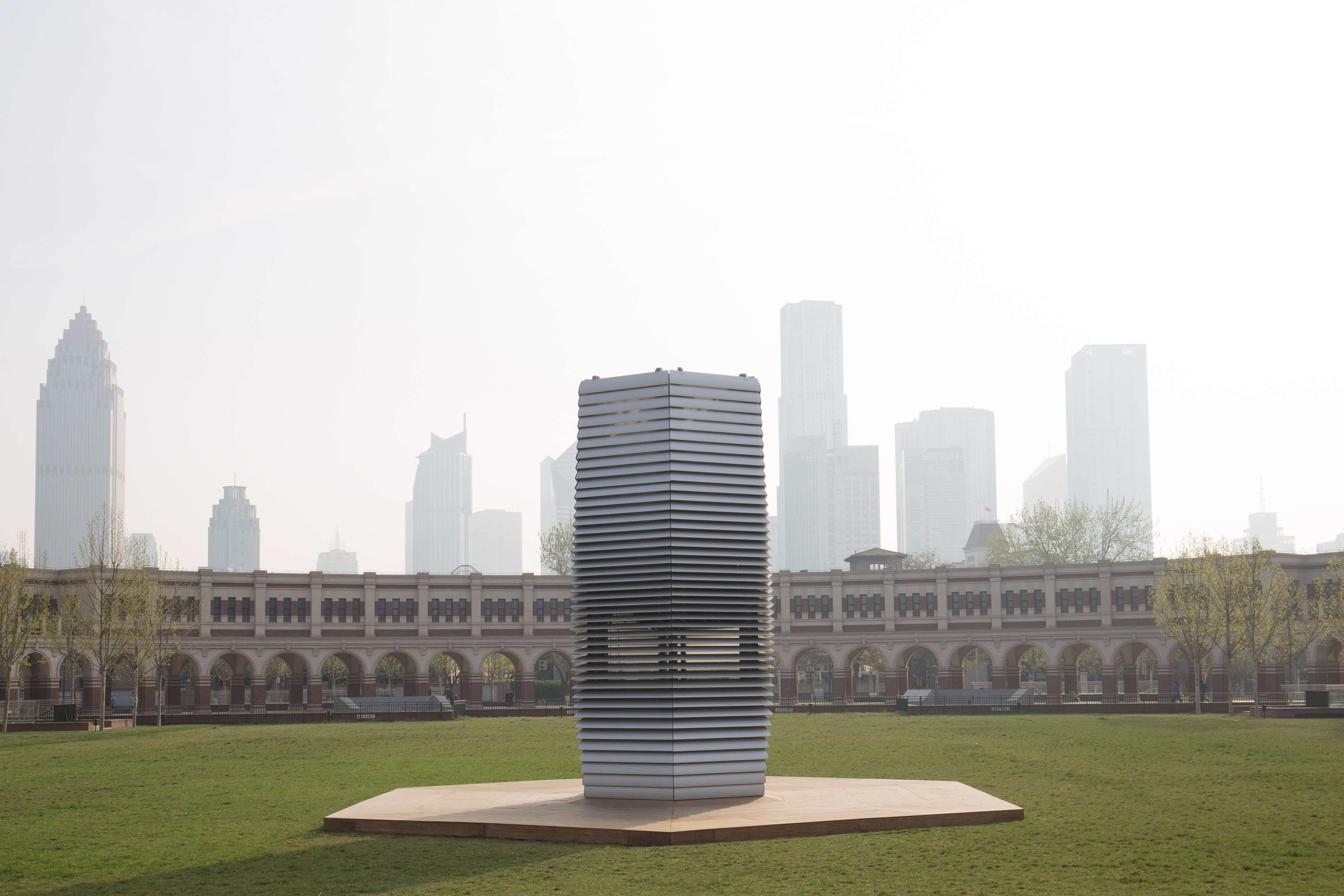 Studio Roosegarde's Smog Free Project turns air pollution into diamonds. Photograph by Hasy