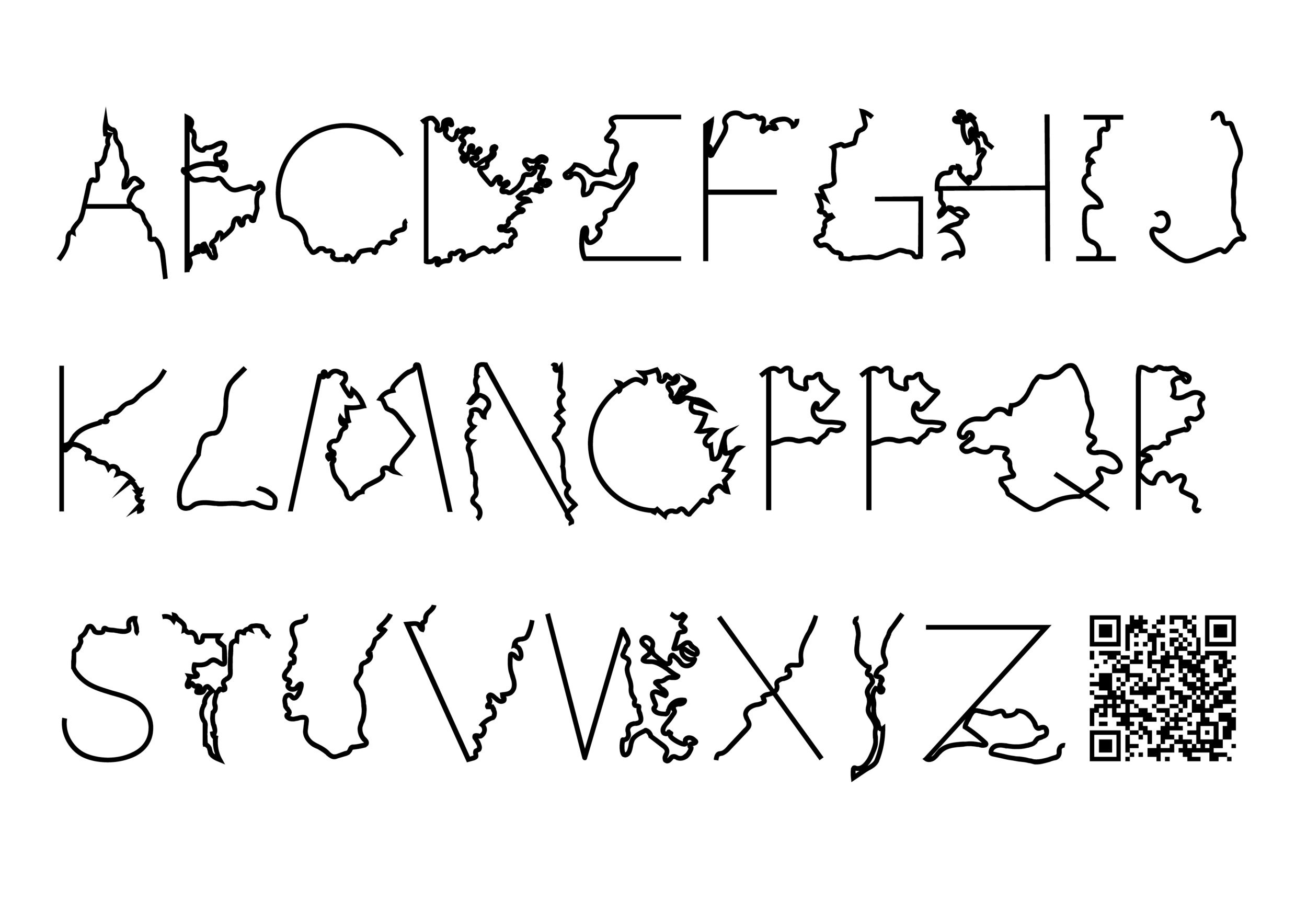 Johan Elmehag's Coastline typeface represents threatened coastal areas