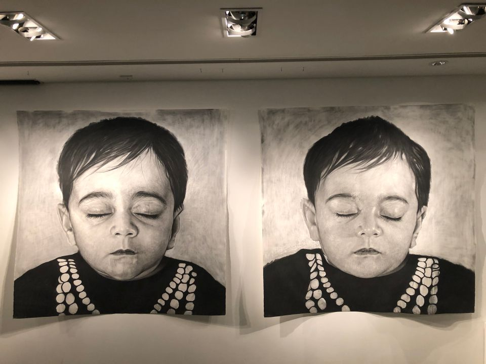 Behjat Omer Abdulla, Head of Child I (From a Distance) and Head of Child II (From a Distance), both 2016 Cristina Ruiz
