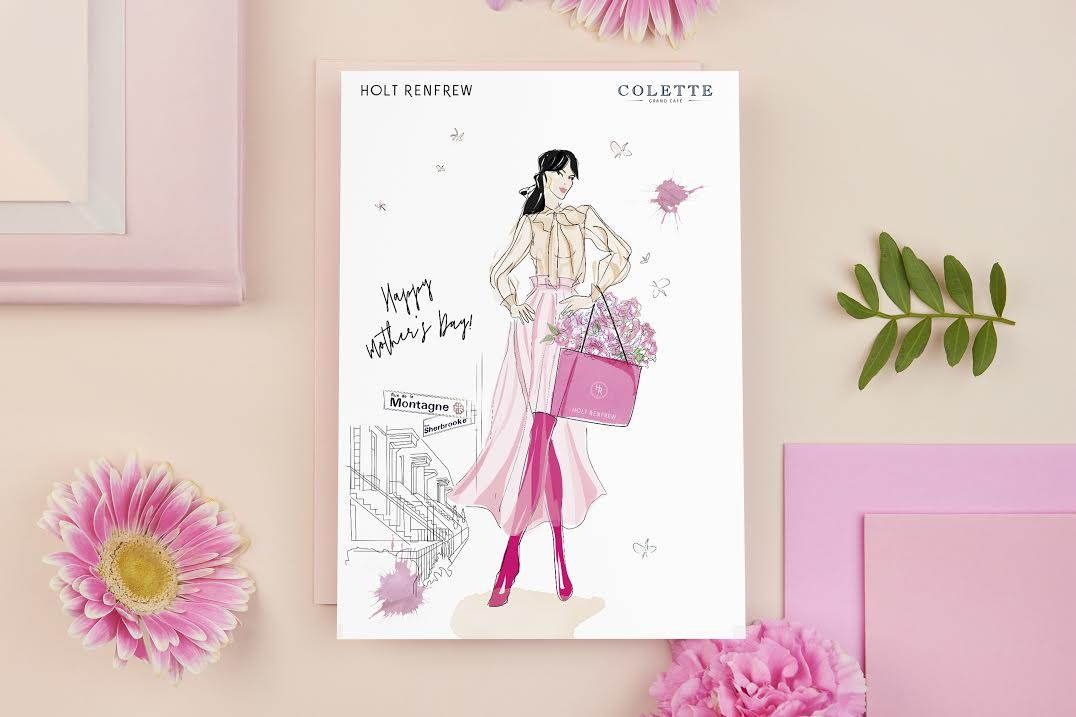 - Custom Illustrated Mother's Day cards for Holt Renfrew