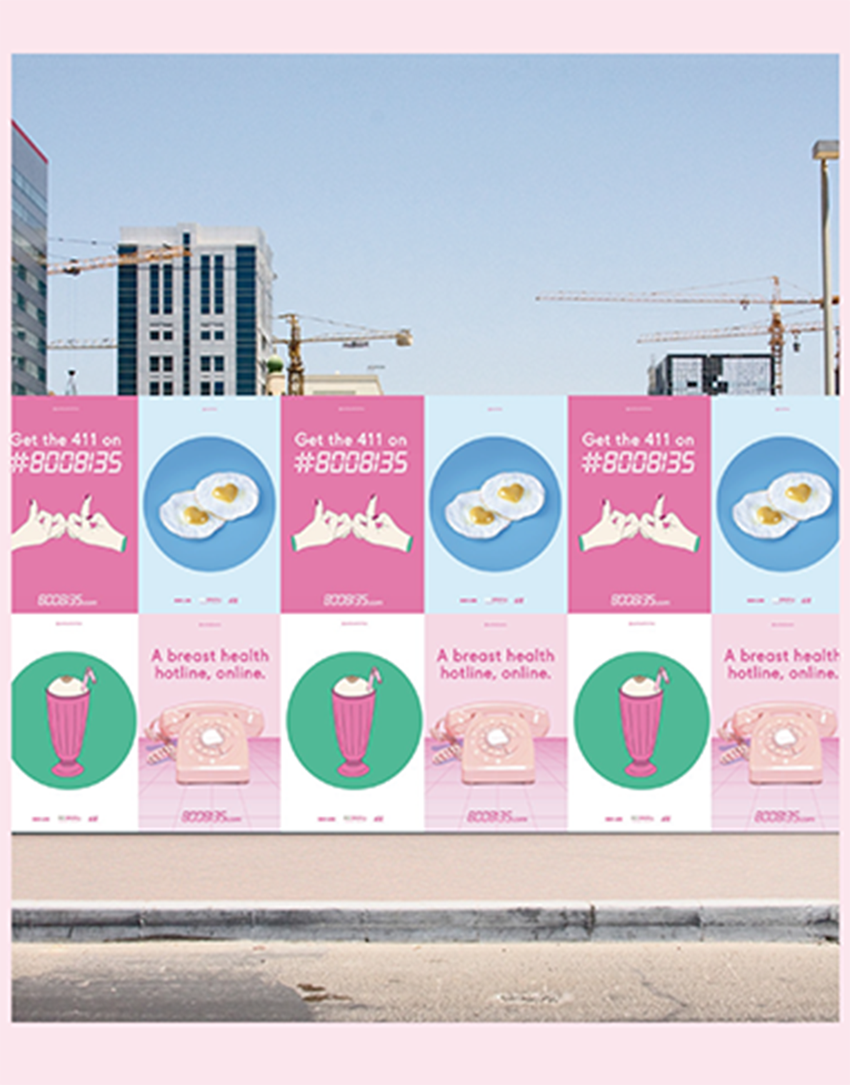 Illustrations for a national Breast Cancer awareness campaign -