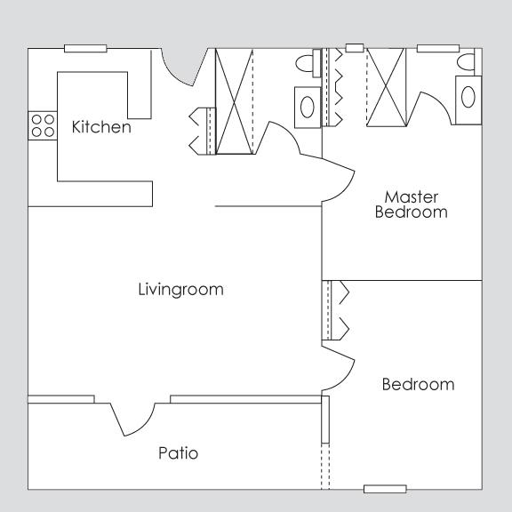 Two Bedroom Mini Penthouse -