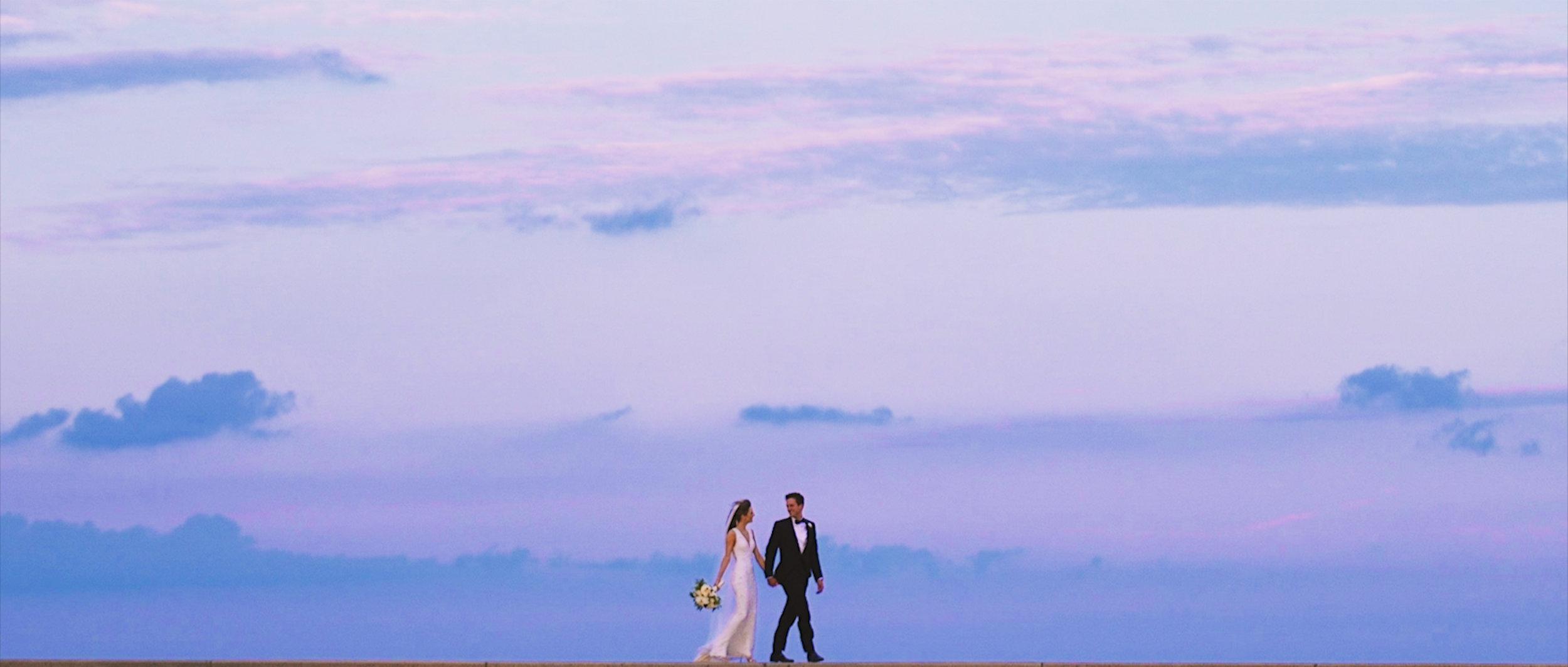 Bride and groom at Lake Michigan |Chicago Wedding Videographers