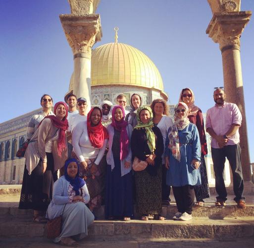 3 Group at Harem Al Sharif (D62 Elizabeth Welliver).png