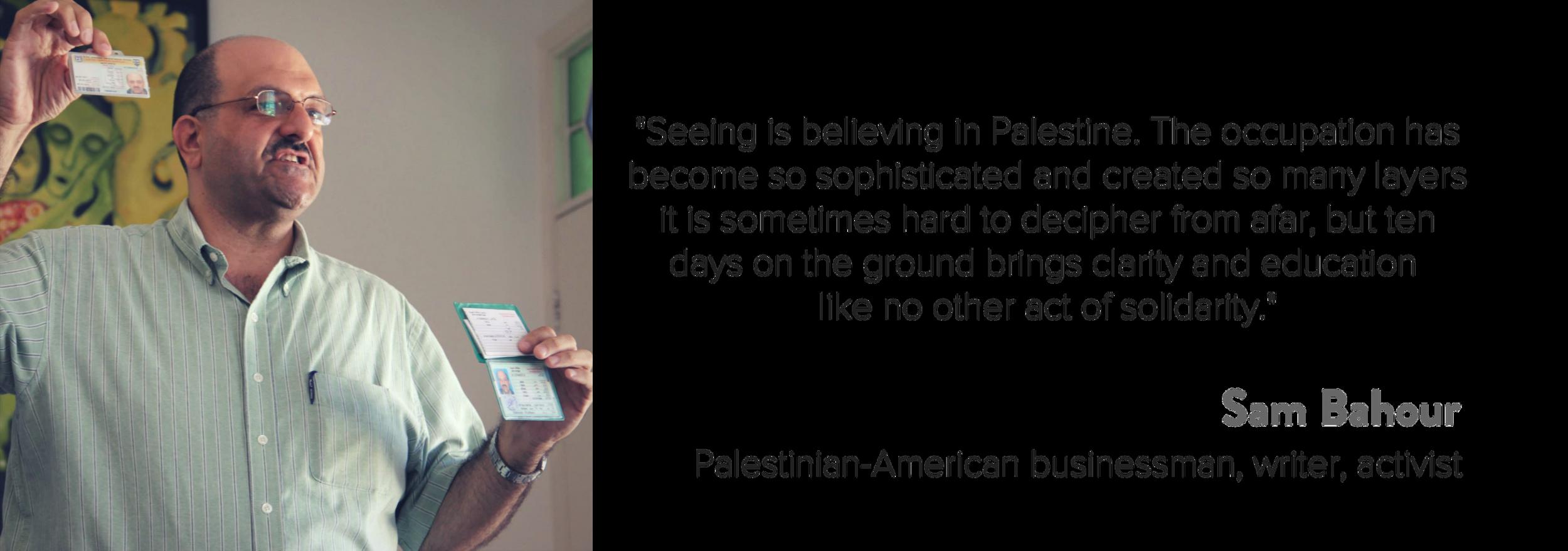 Sam Bahour - Testimonial