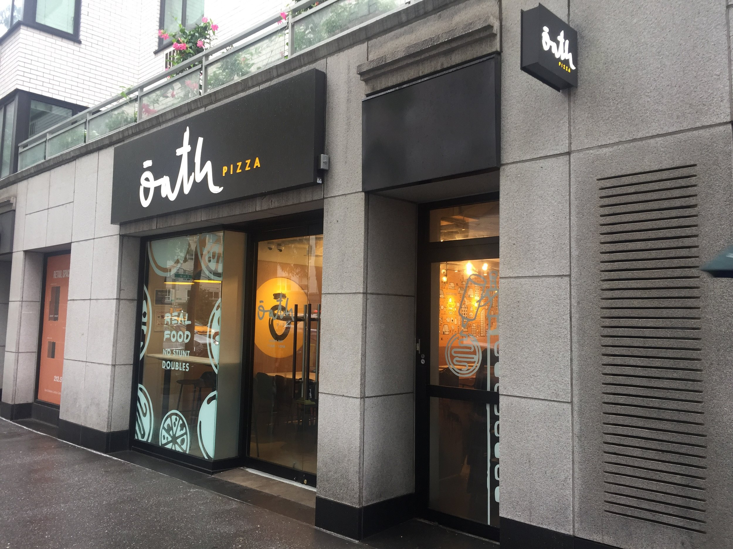 Oath Pizza    1140 3rd Ave. New York, NY 10065    2169 Broadway, New York, NY 10024