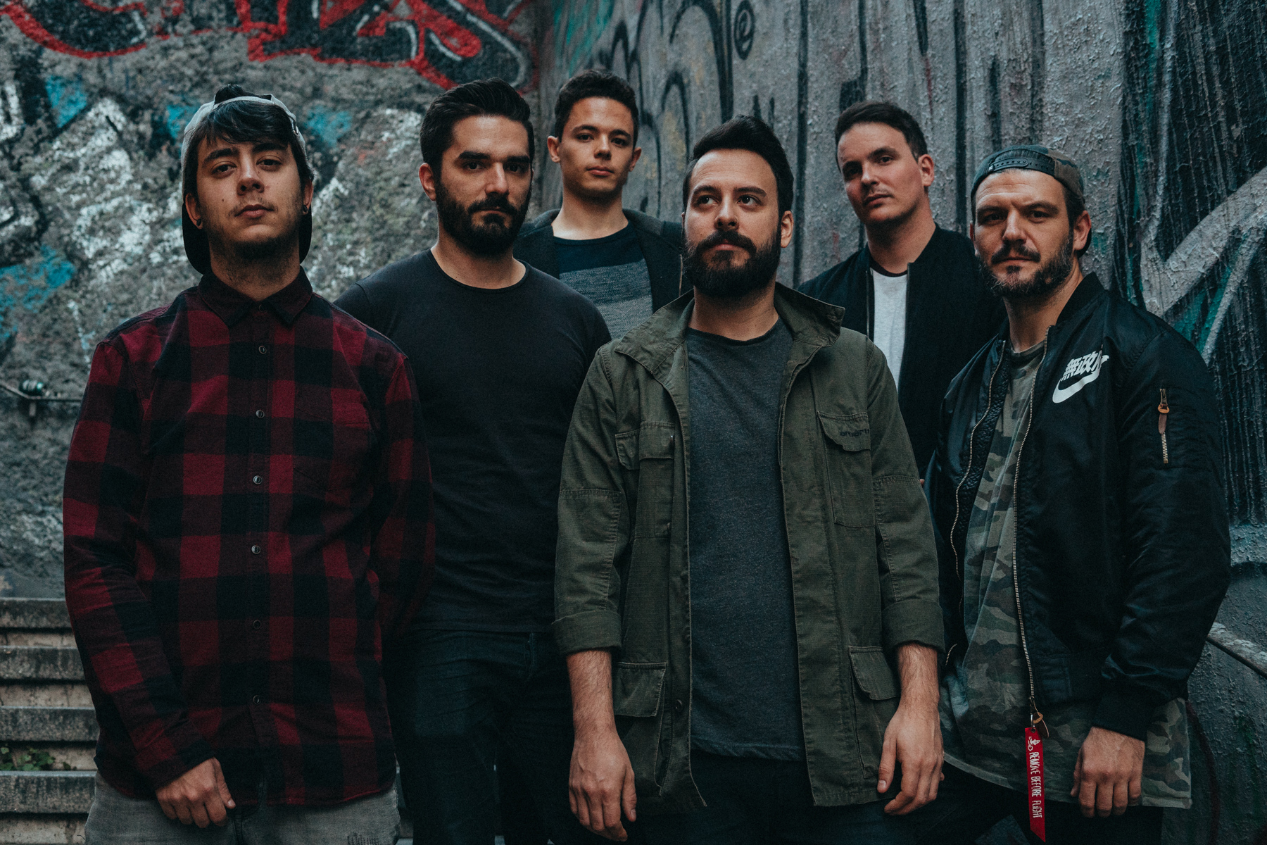 The promo photo we took at some cool stairs.