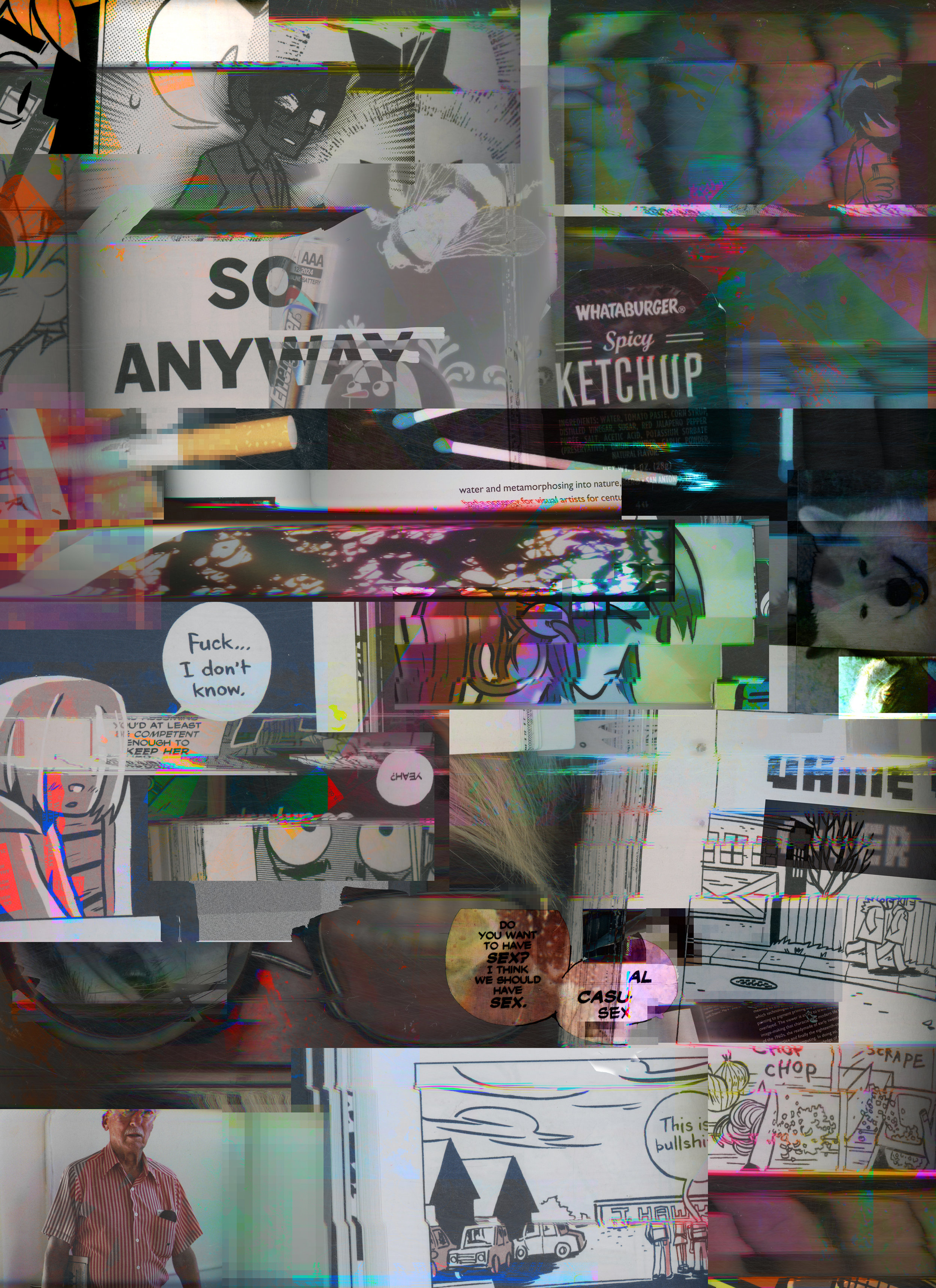 Autobiographical Data Dump, 2016, Inkjet print, 4' x 5'