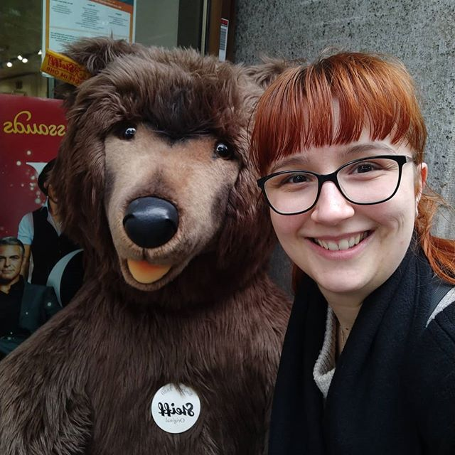 I loved seeing all the bears in Be(a)rlin so I had to take a photo with the cutest one! #Berlin