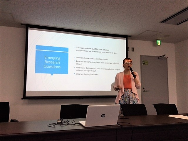 Presenting my reflections on the four days of the Glasgow and Tokyo workshops to wrap up the symposium [25th June 2019].