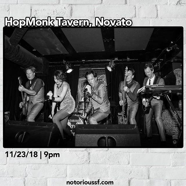 After entertaining / spending time with your entire family, then battling it out with the masses on Black Friday, you need to come and unwind with us @hopmonknovato 11/23, we'll be taking the stage at 9pm, trust us, you deserve this. See you there! #notoriousrocks . . . . #hopmonktavern #novato #friday #fridaynight #thanksgiving #blackfriday #fun #dance #drink #sing #treatyourself #danceband #coverband #partyband #bayarea