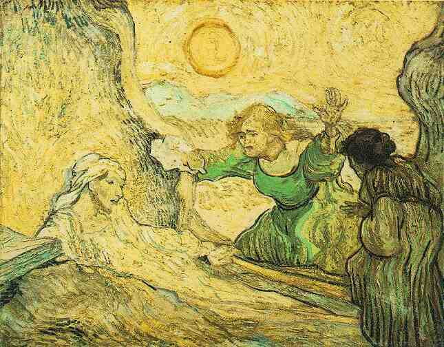 The Raising of Lazarus (After Rembrandt)  by Vincent Van Gogh, 1889