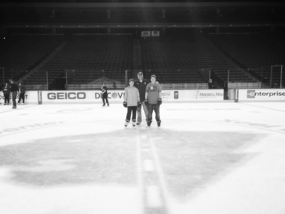 Enjoying the Wild's ice!