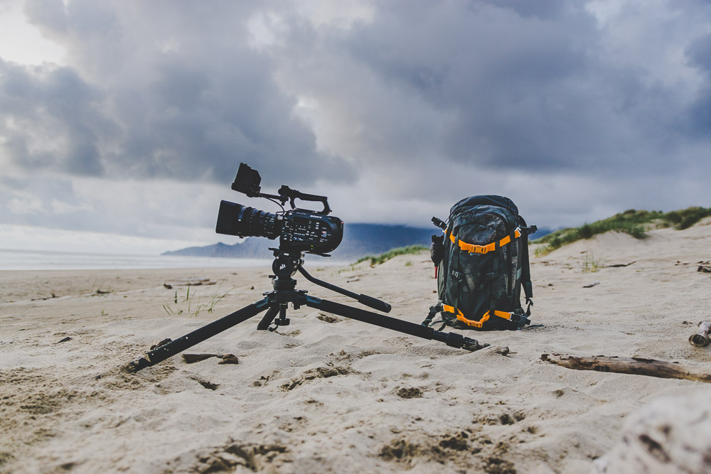 RUGGEDLY EQUIPPED - Rain, sleet, or shine I am equipped to travel anywhere on foot. Depending of the type of shoot, I can pack my backpack with my Fs7ii, A7sii, and A6000 with audio gear and spare lenses. And when it is time for an interview my 3 Aputure lights all fit into 1 convenient carrying case. All of this gear fits into 1 carry on, 1 personal item, and 2 check bags for easy flying.
