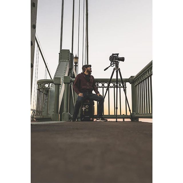 There are only a few photos of me out there so I decided to snap a little BTS shot if me doing a timelapse. I usually spend about an hour and a half on the recording itself so imagine me sitting here for about an hour. . #portlandartist #a6000 #sonyimages #cinematographer #fs7ii #millertripods
