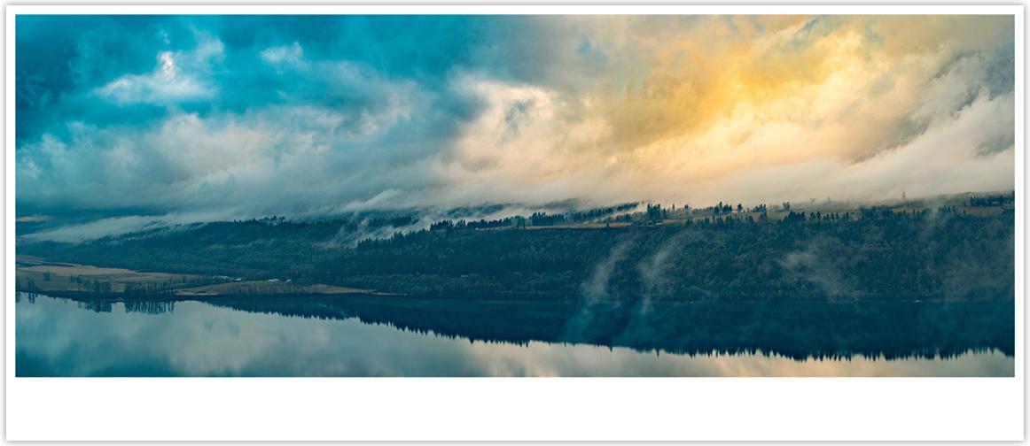 Emerging 12x28 Columbia River Gorge Print