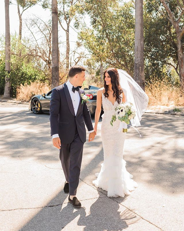 Missing my guy today and our wedding day.  #californiawedding #weddingdress 📸 @katiejacksonphoto