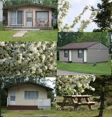 Cabins (limited # available) - $45 - Small Cabin (not shown)  Sleep 4 OR 6/cabin. NO water.$55 - 1/2 Duplex  Sleeps 6; NO water.$105 - Deluxe Cabin   Sleeps 6; 3 rooms;            Some rooms with bunks; Toilet but NO shower/tub.