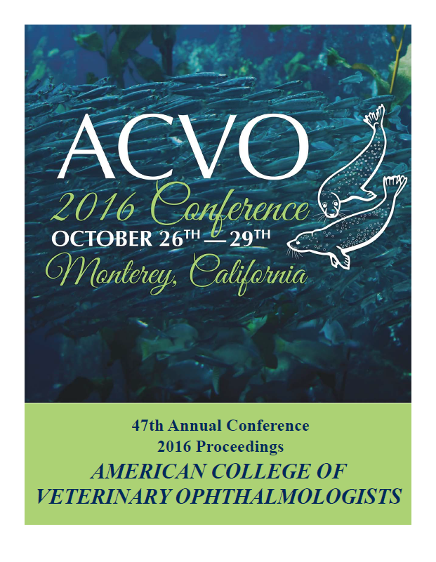 ACVO Conference Abstracts - Access meeting abstracts published within Veterinary Ophthalmology (VO), dating back to 1999, through a subscription to VO. Or you may wish to purchase a proceedings book or USB.