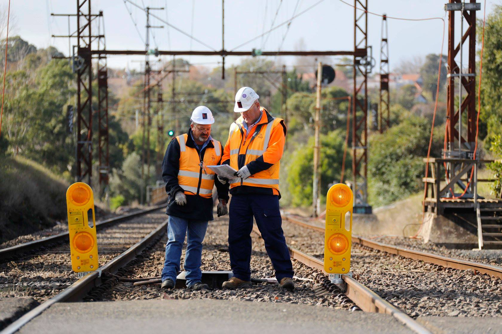 Rail SWS team at the forefront of Victoria's North East Program Alliance (NEPA).  Photo taken near Grange rd., Alphington.