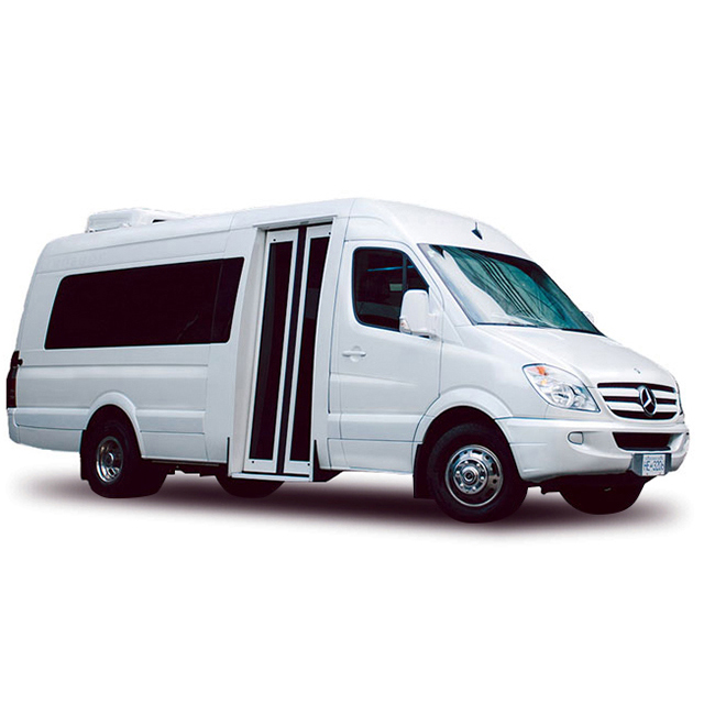 Mercedes Executive Bus - Our Mercedes Executive Bus is luxurious transportation for elite groups and weddings.