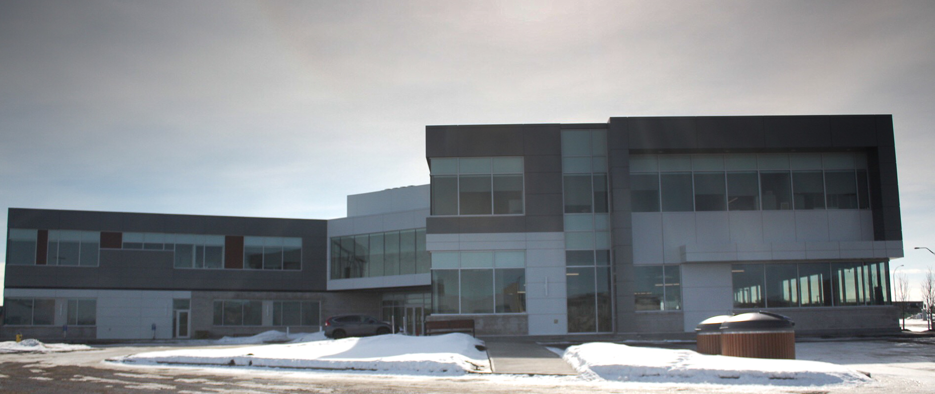 Job Name:  Forbes Brothers Office   Contractor:  Clark Builders   Description:  New two storey office building with a heated underground parkade on the south side of Edmonton. There are new site services, site lighting and a back-up generator on the roof as well.
