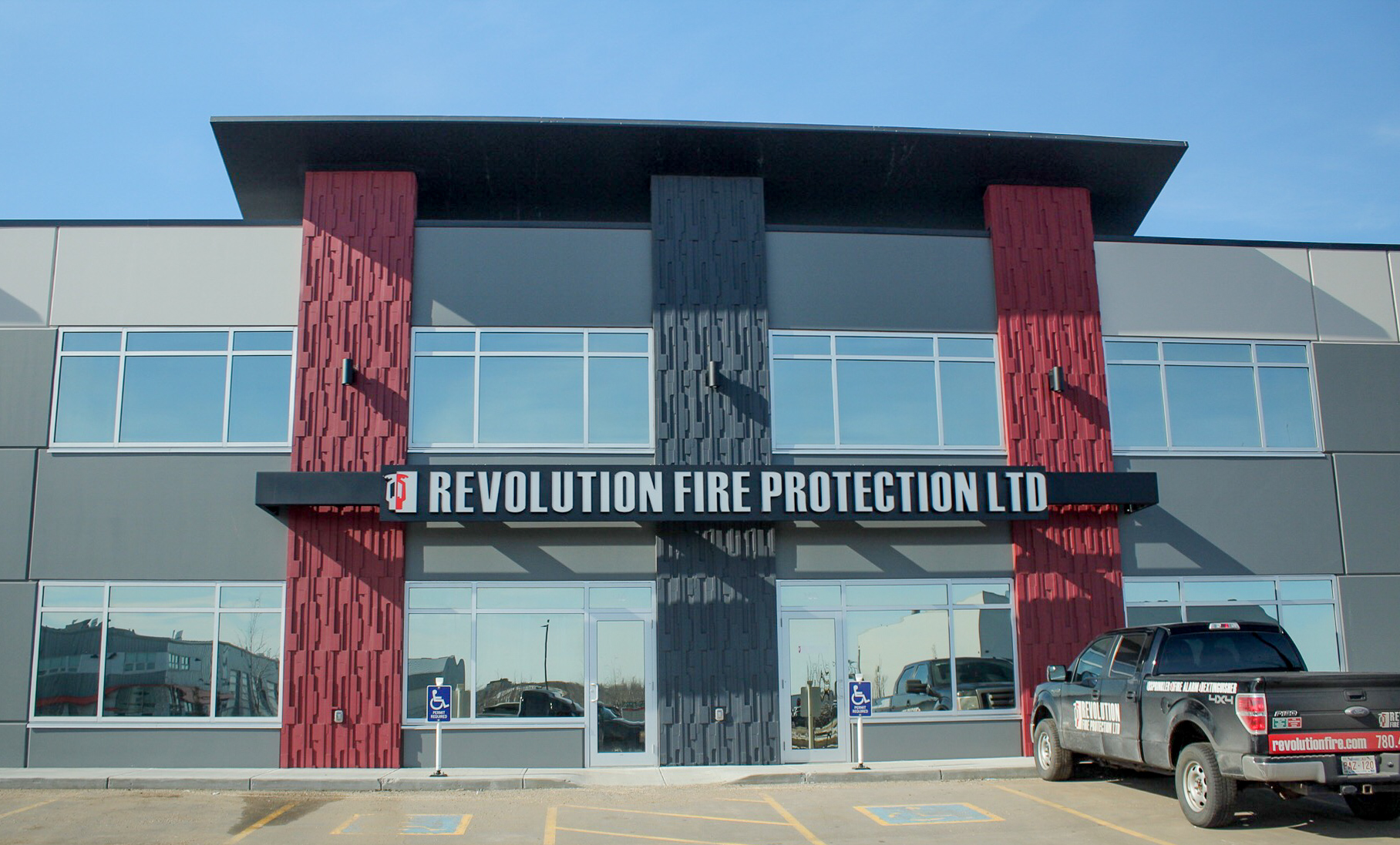 Job Name:  Revolution Fire Protection Office   Contractor:  Revolution Fire Protection   Description:  Design build interior TI where we worked directly with Revolution Fire Protection to provide a design that complimented their current office/field staff but gave them the opportunity to expand in the future. This project was completed under an extremely tight timeline and remained under budget.