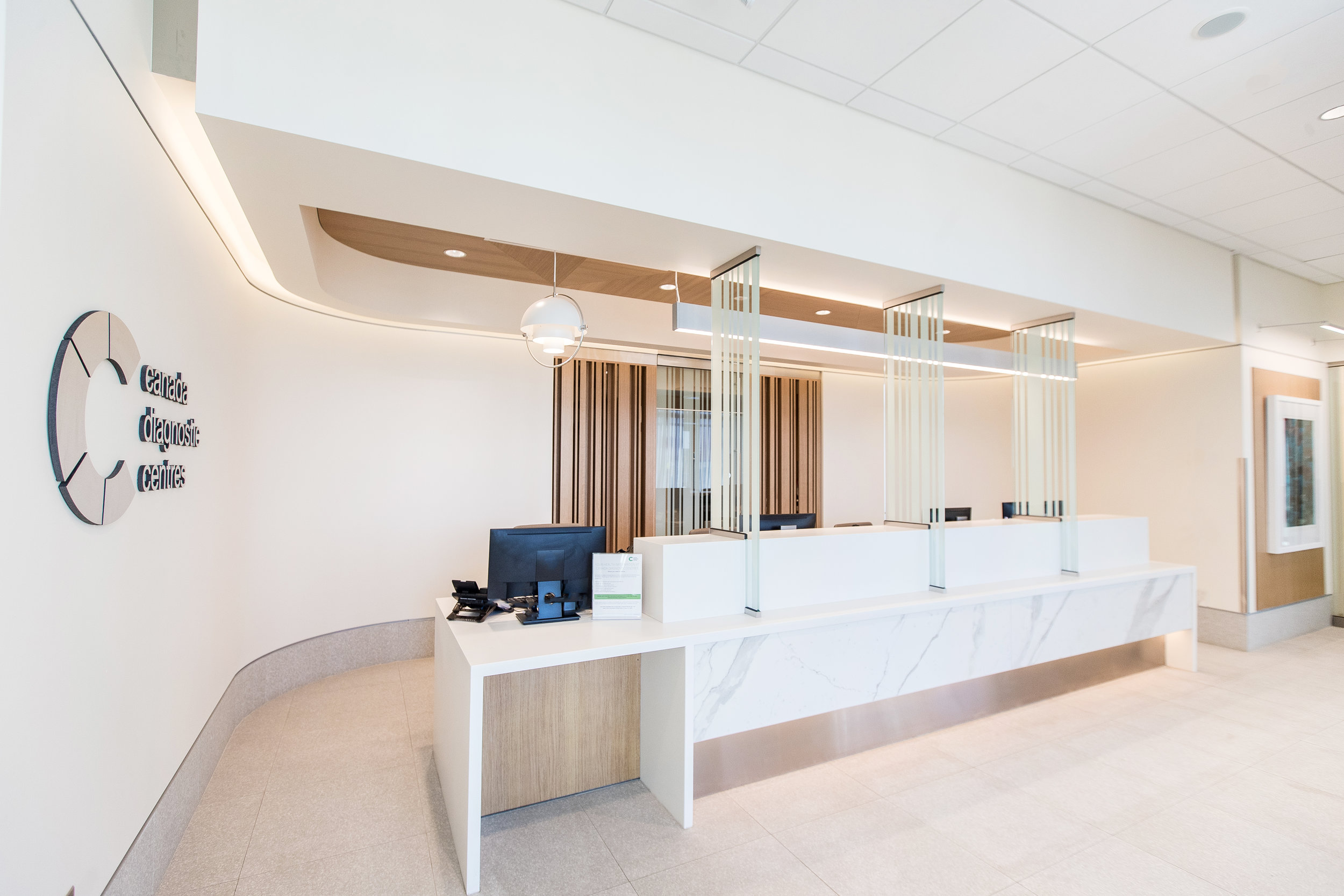 Job Name:  CDC Ellerslie   Contractor:  Keller Construction   Description:  Tenant fit-out for a Canada Diagnostics Clinic in the Ellwood Medical centre in Ellerslie. This state of the art clinic has many specialized and detailed pieces of medical equipment.