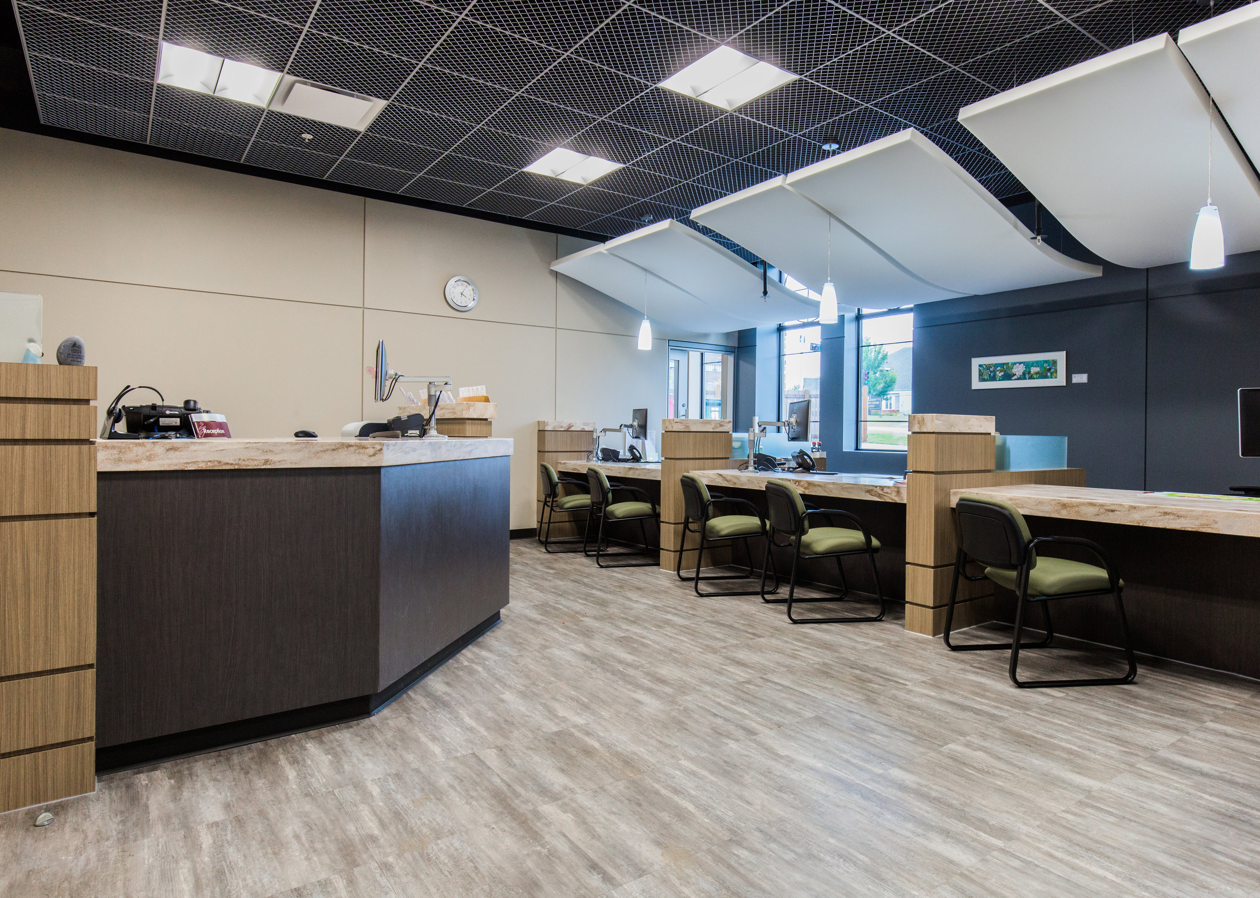 Job Name:  King Street   Contractor:  Keller Construction   Description:  Interior tenant improvement for the city of Spruce Grove permits & licensing office. This included connections to work stations, as well as a high end N-Light lighting controls system.