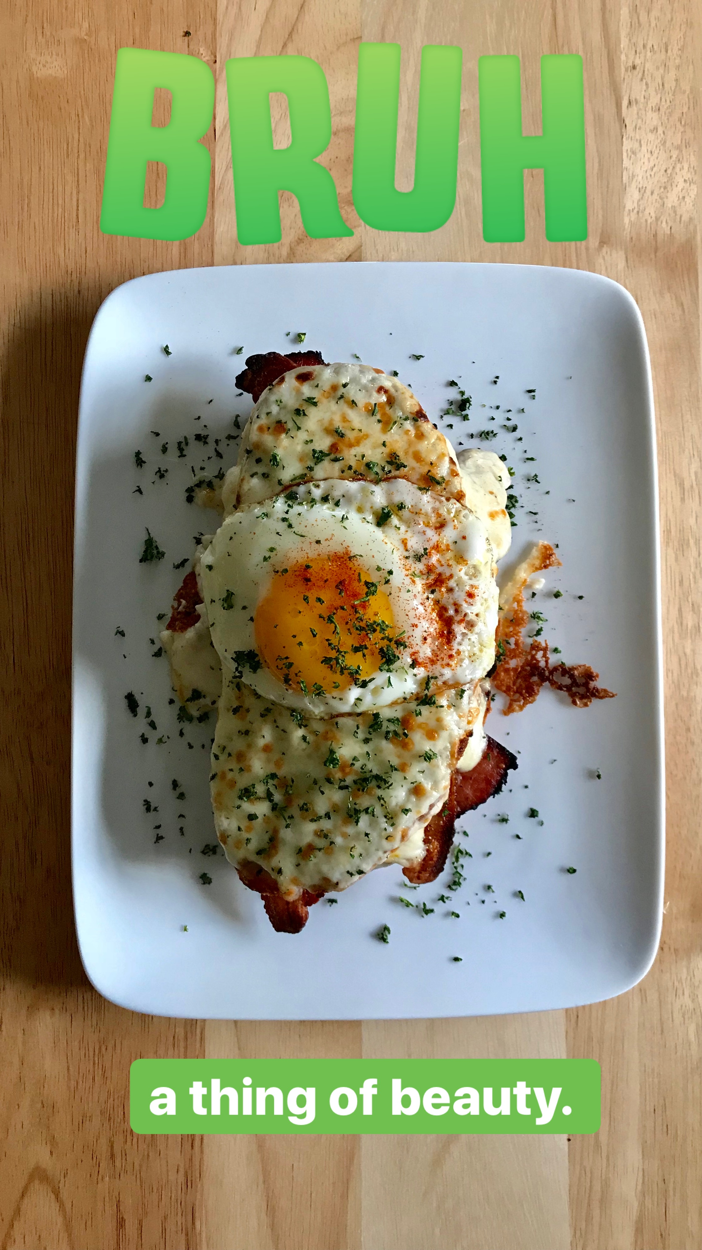 Croque Madame - As seen on Instagram's Brunch with Brundle.
