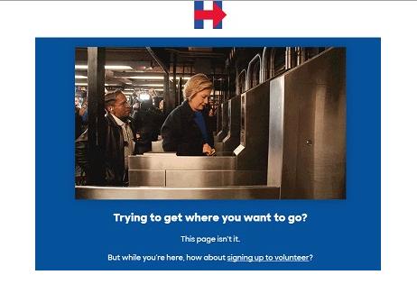 Hillary Clinton 404 Seite
