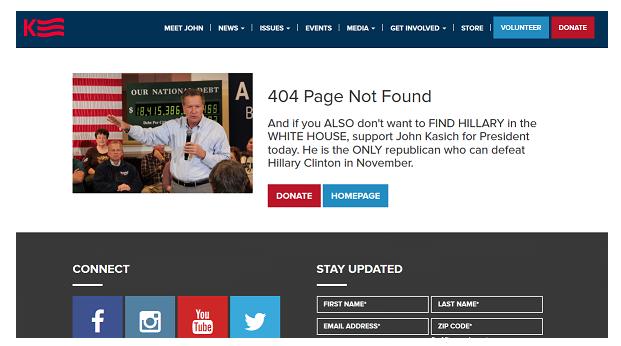 John Kasich 404 Seite