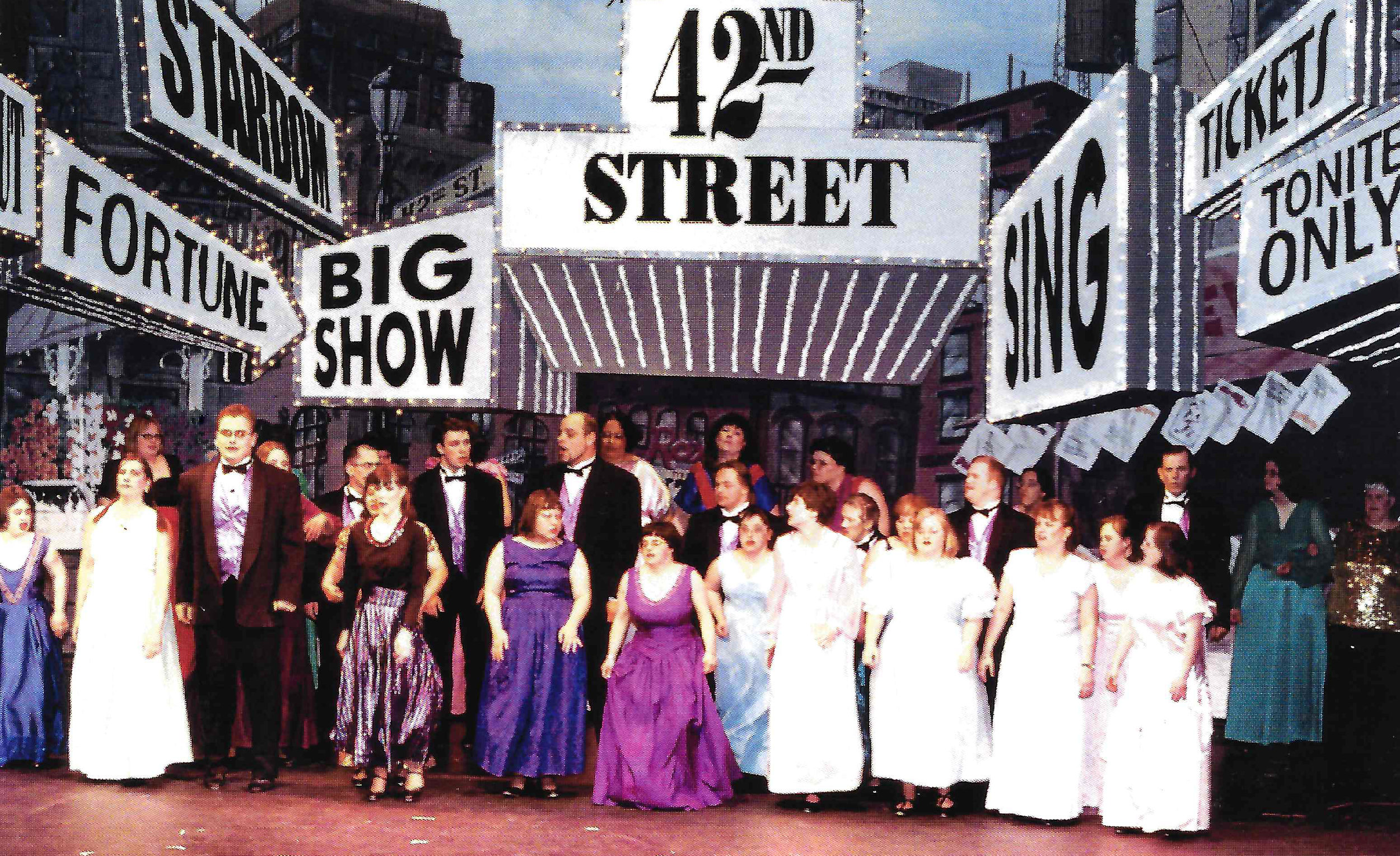 "Students performing ""42nd Street,"" 2002."