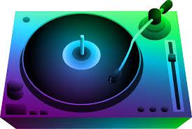 A DJ's turntable.
