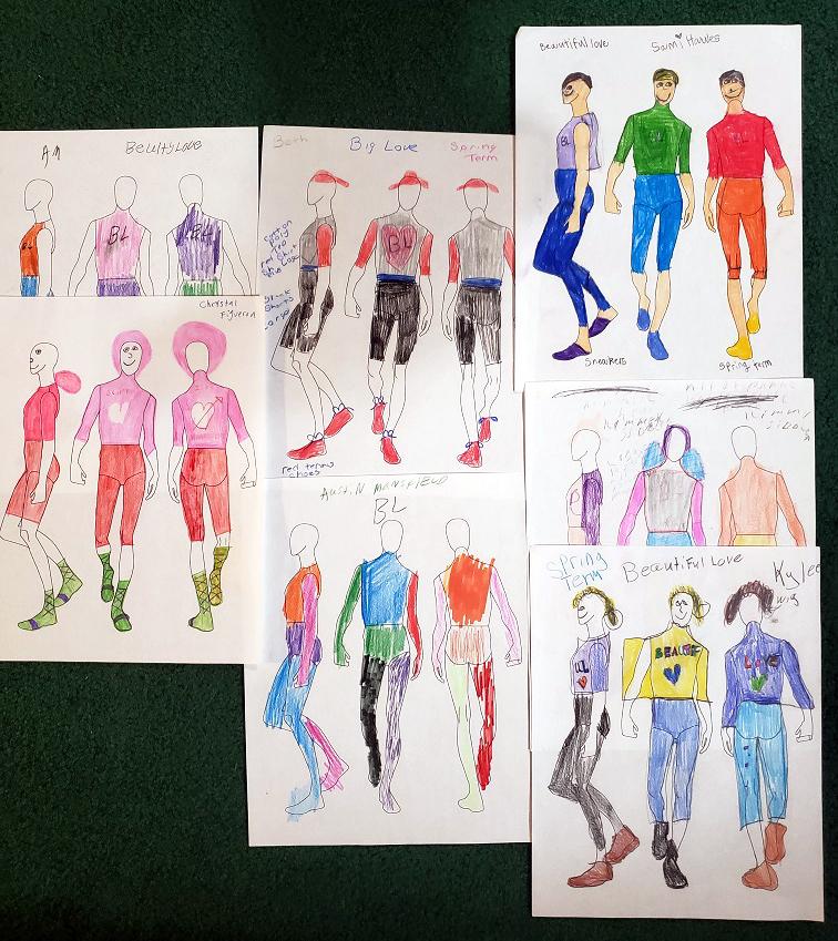Costume designs for Beautiful Love