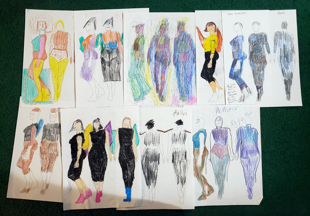 Costume designs for the Monster
