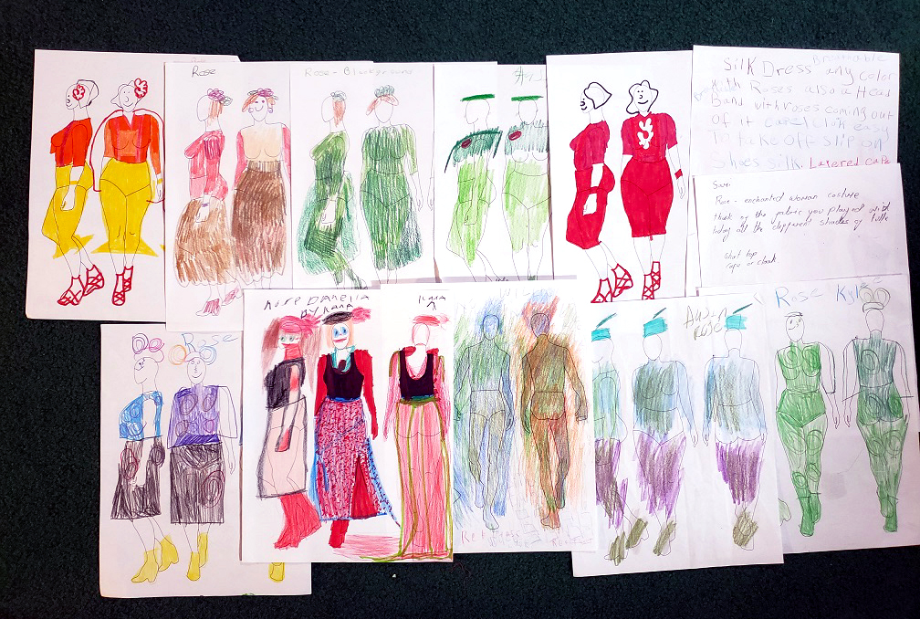 Costume designs for the Rose