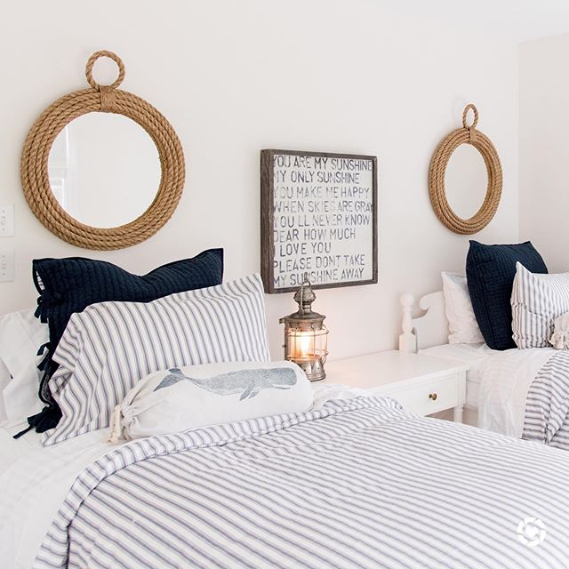 A guest room for two tiny sailors! ⚓️⚓️⚓️You can instantly shop this look by taking a screenshot of this photo and following me on the LIKEtoKNOW.it app ⚓️ http://liketk.it/2CbpP . . . .  #liketkit @liketoknow.it @liketoknow.it.home #LTKhome #interiordesign 📷: @wearefreebird