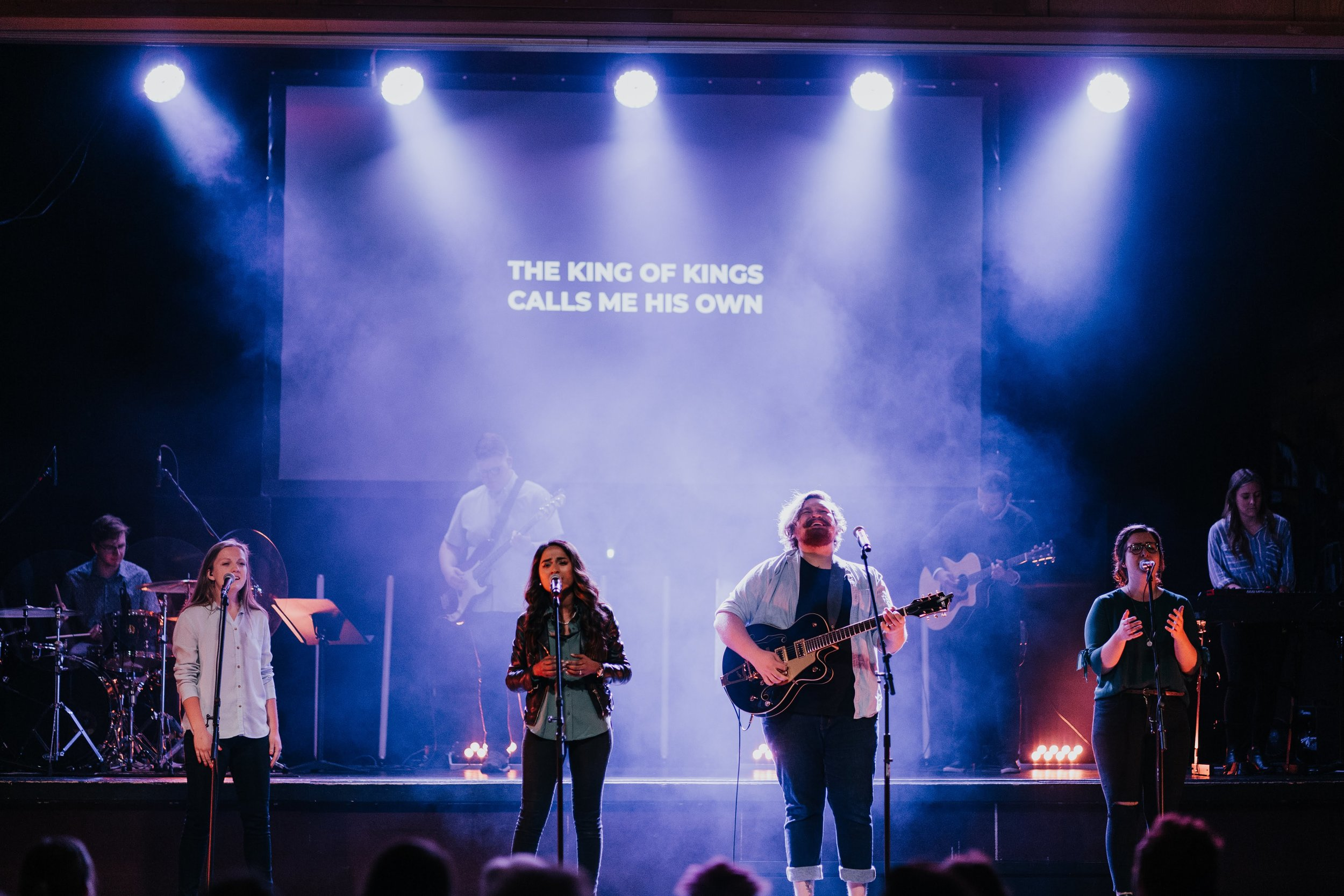 Worship Team  This team creates space for people to authentically connect in worship. This talented and selfless group of musicians and singers lead the way for our church in worship! Please note: this team requires auditions for all members.