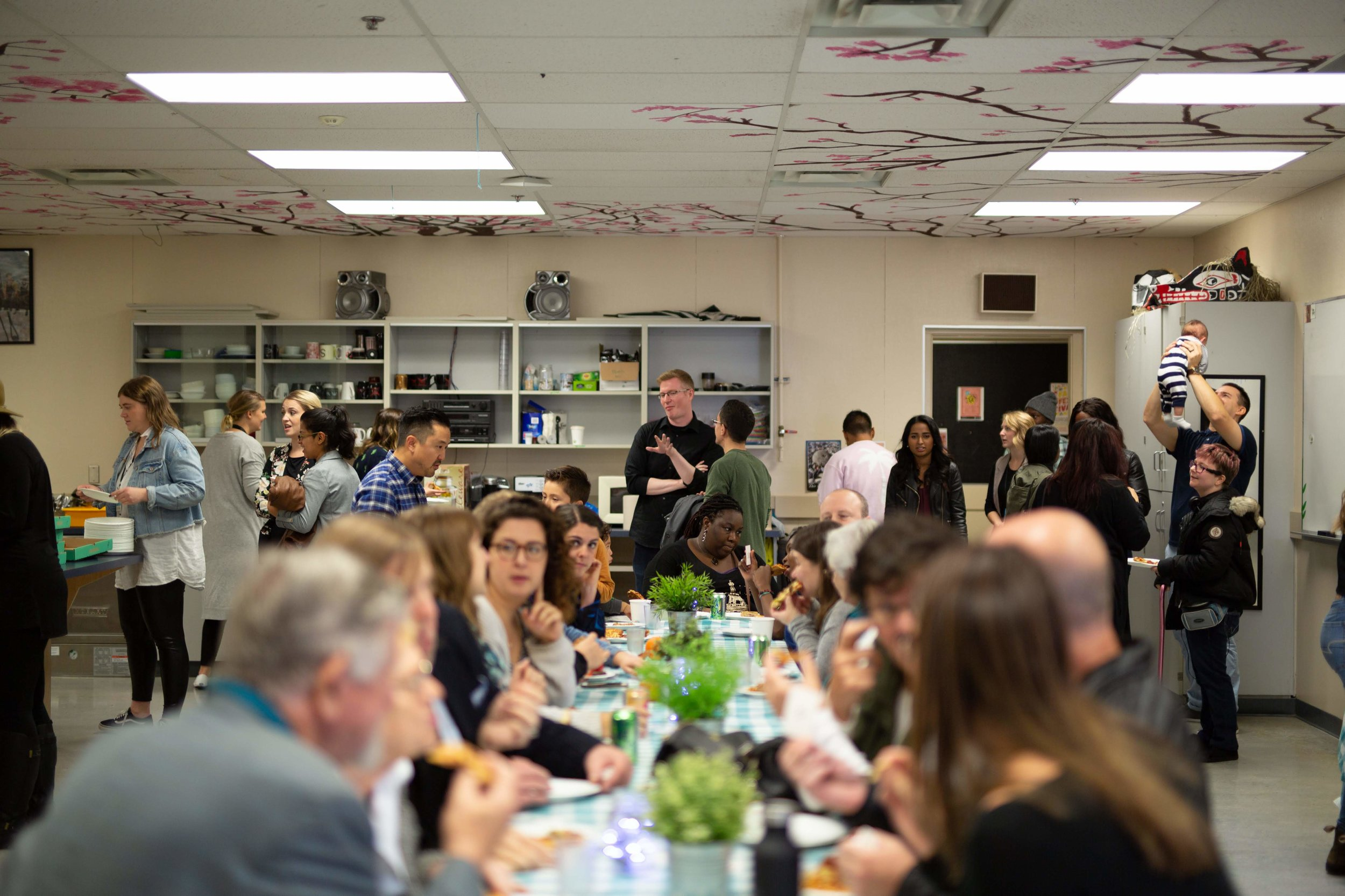 Foods Team  This team creates space at the table for people to connect. Whether that is through team breakfasts in the morning, Community Lunches after church, or Dinner Parties during the week, this team uses food to bring people together.