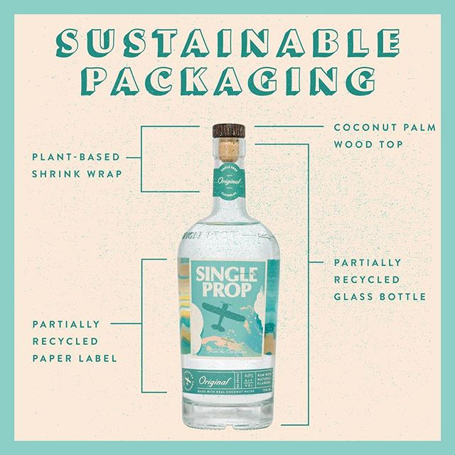 Even our bottle is sustainable from head to toe! From coconut palm wood tops, to shrink wrap made from plant matter. What's your favorite part of our packaging? 🌴 . #JourneyResponsibly #DiscoverSomethingReal #NoPlasticsPact #EarthDay #EarthWeek #EverydayIsEarthDay #WasteFree