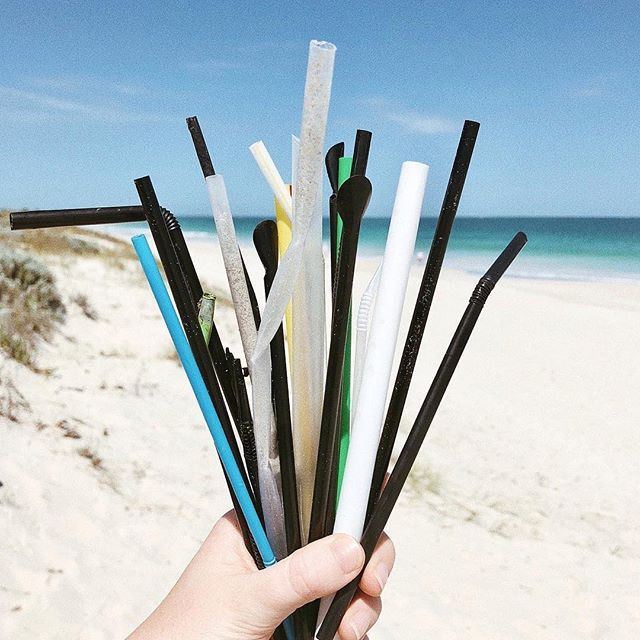 While you're enjoying the beach this season, keep an eye out for any single-use plastics and pick them up. Straws are one of the most commonly found items during beach clean-ups. Let's do our part and keep our oceans clean and happy — sign the #NoPlasticsPact today!  Photo: @coastalcleanupcrew . . . #plasticpollution #worldoceansday #fortheoceans #saynotoplastic #oceanconservation #plasticfree