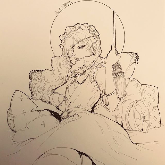 http://jdarnell.storenvy.com/products/24192720-original-ink-drawing-lillienne