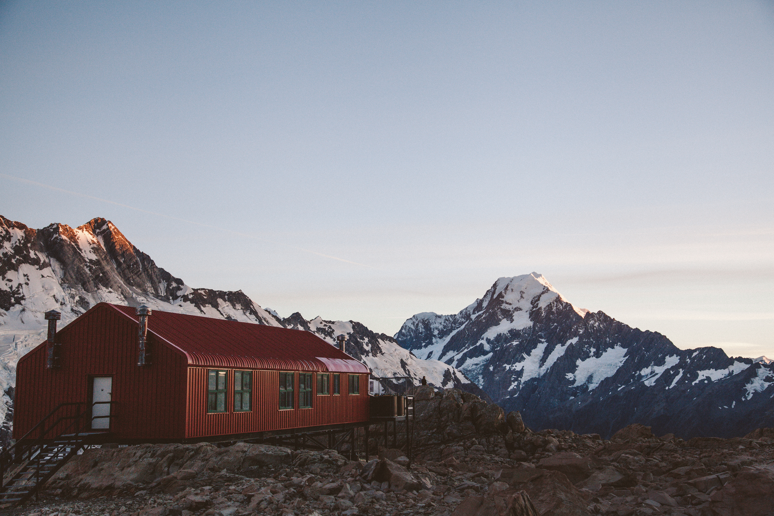 The view from Mueller Hut looking out towards Mt Cook