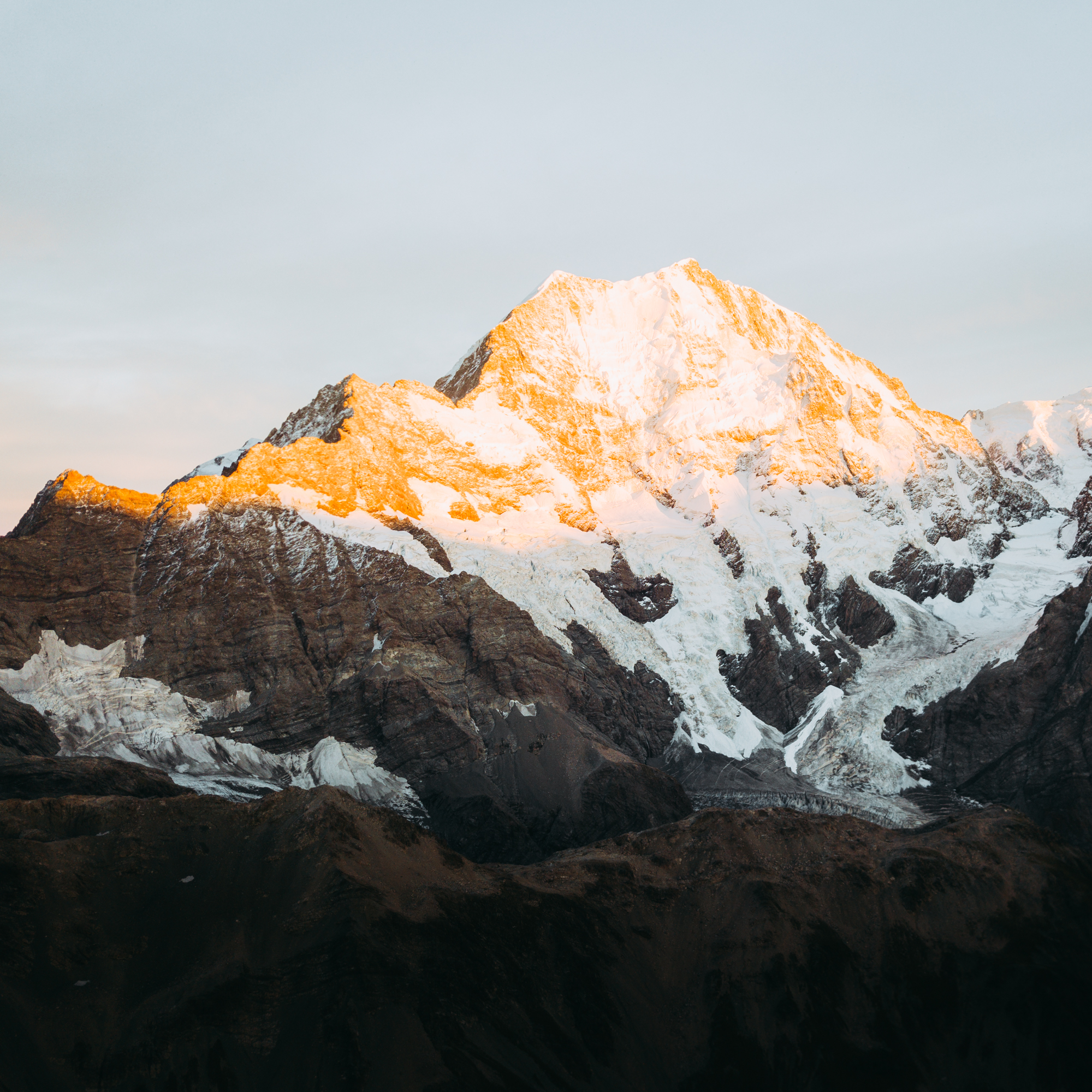 Ball Pass Mount Cook at Sunrise