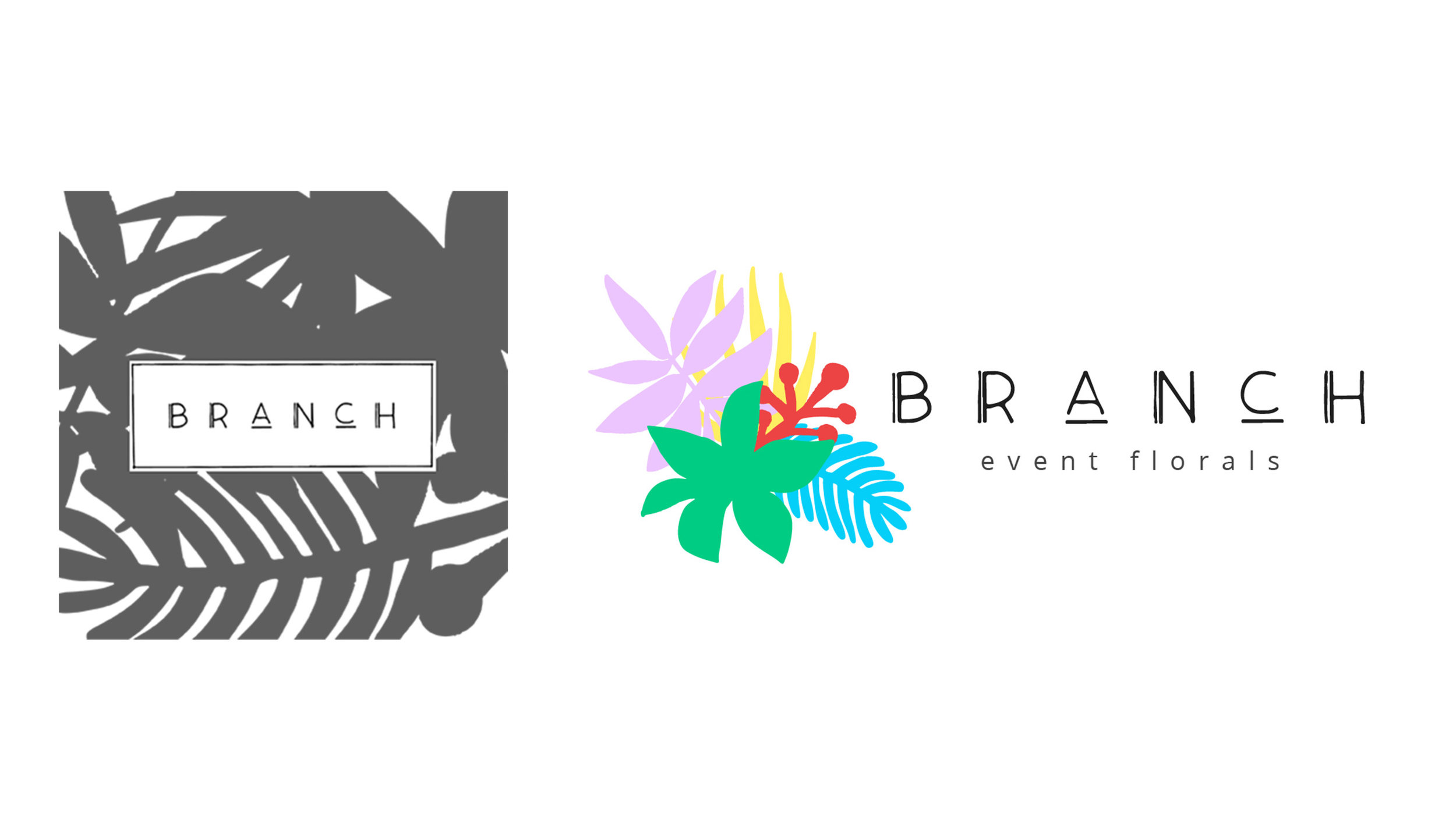 BRANCH Florals Logo Design