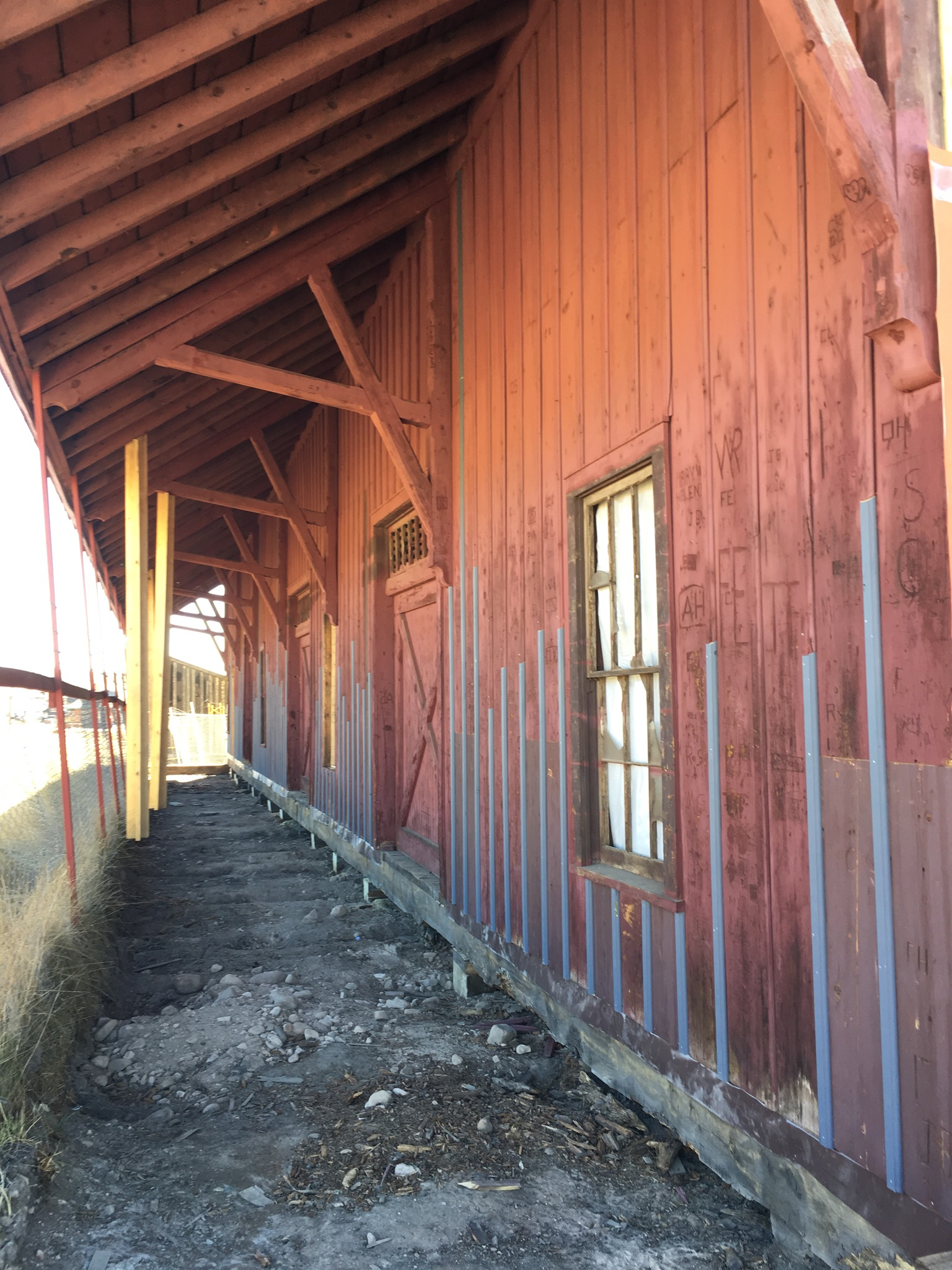 Where materials could be salvaged, they were! The East dock has an extensive eve (seen here) with gorgeous brackets. This saved much of the siding and anything that needed replacing received original materials back in it's place.