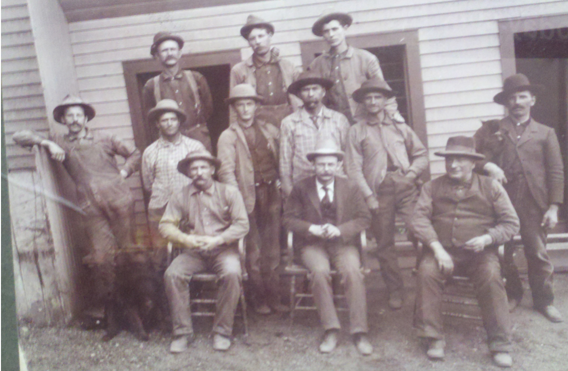 Founder of Smith Lumber, Shadrack Lionel Smith (front and center), circa 1900