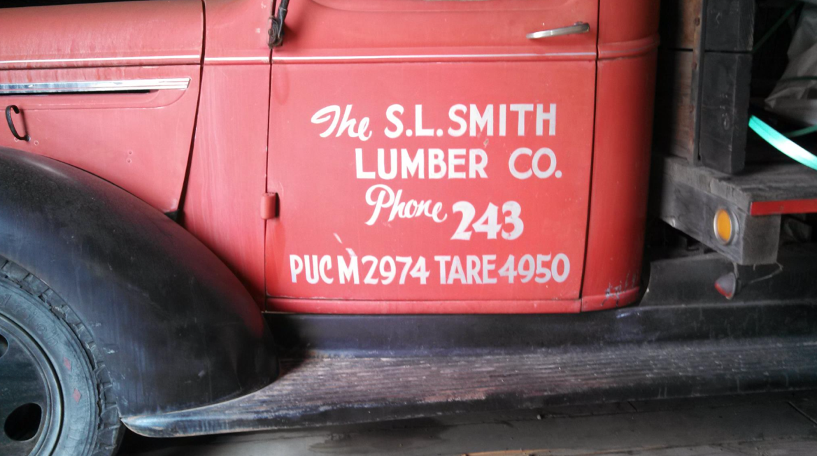 A trusted pick up truck, in service for most of the S.L. Smith Lumber era
